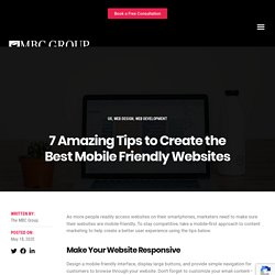Tips to create your Website Mobile Friendly
