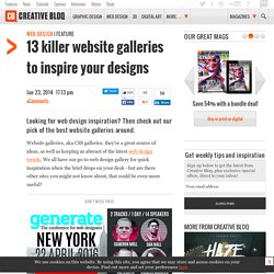 13 killer website galleries to inspire your designs | Web design