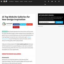 15 Top Website Galleries for Your Design Inspiration