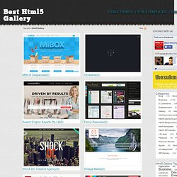 Best Html5 Gallery | Html5 Showcase | Regular updated showcase