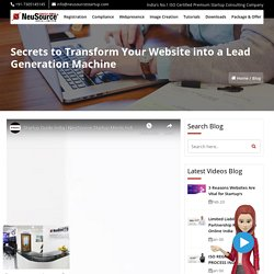 Turn Your Website into a Lead Generation, Lead Generation Strategies