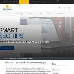 Smart SEO Tips to Rank Your Website in Google