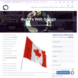 Website Design and Graphic Design Services Aurora, Ontario, Canada