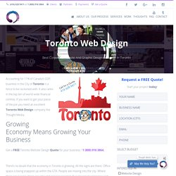Website Design and Graphic Design Services Toronto, Ontario, Canada