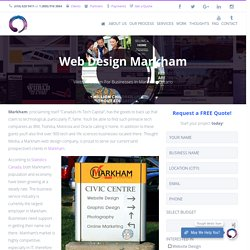Website Design and Graphic Design Services Markham, Ontario, Canada