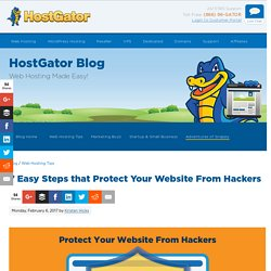 7 Easy Steps To Secure Your Website From Hackers