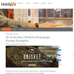 15 Examples of Brilliant Homepage Design