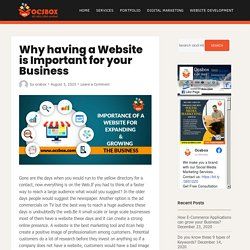Why having a Website is Important for your Business - Ocsbox