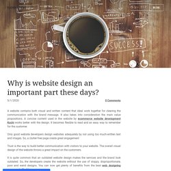 Why is website design an important part these days? - TECHPULLERS
