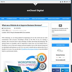 What can a Website do to Improve Business Revenue? - Digital enCloud