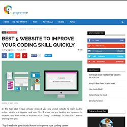 BEST 5 WEBSITE TO IMPROVE YOUR CODING SKILL QUICKLY - I am Programmer
