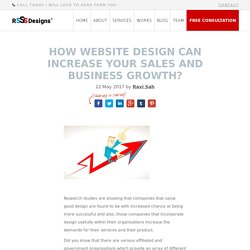 Website design can increase your sales and business growth