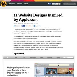 22 Website Designs Inspired by Apple.com