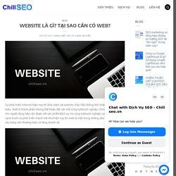WEBSITE LÀ GÌ? TẠI SAO CẦN CÓ WEB? - ChillSEO.vn