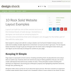 10 Rock Solid Website Layout Examples