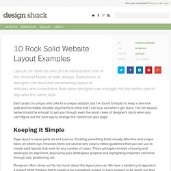Website Layout Examples