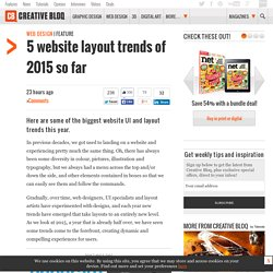 5 website layout trends of 2015 so far