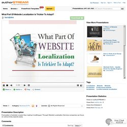 What Part Of Website Localization Is Trickier To Adapt?