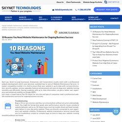 10 Keys To A Successful Ongoing Business Website Maintenance - Skynet Technologies