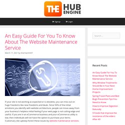 An Easy Guide For You To Know About The Website Maintenance Service – The HubEngine