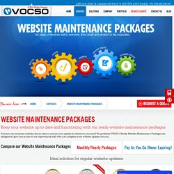 Website Maintenance Packages, Prices and Plans in India