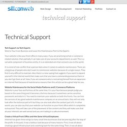 Website Maintenance, Web Maintenance Support Services