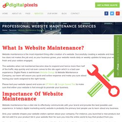 Website Maintenance Services and Support