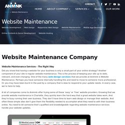 Website Maintenance In Charlotte, NC – Let The Professionals Handle It