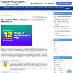 Troubleshooting in your website? Contact Us for Website Maintenance Services - Skynet Technologies