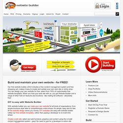 Free Website Builder, Free Content Management System and Free Shopping Cart - Web Widgets Ltd - NZ