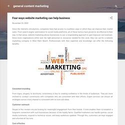 Four ways website marketing can help business