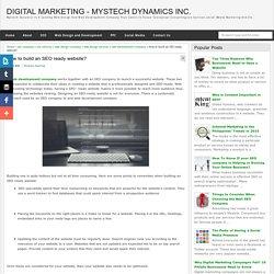 How to build an SEO ready website? - Digital Marketing - Mystech Dynamics Inc.