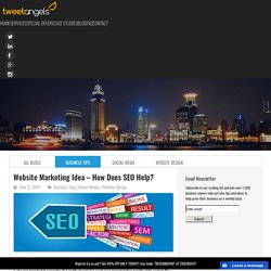 Website Marketing Idea - How Does SEO Help? - TweetAngels