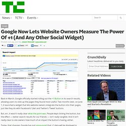 Google Now Lets Website Owners Measure The Power Of +1 (And Any Other Social Widget)