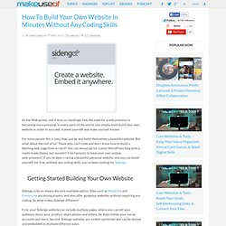 Build A Website In Minutes Without Any Coding Skills