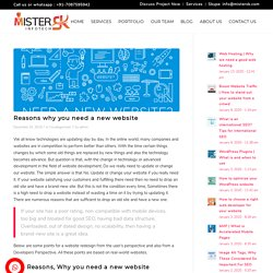 Reasons why you need a new website - MisterSK Infotech