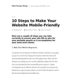 10 Steps to Make Your Website Mobile-Friendly – Web Design Blogs