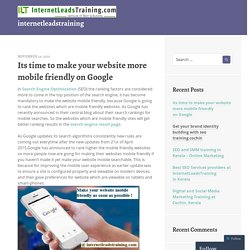 Its time to make your website more mobile friendly on Google