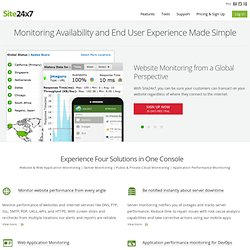 Website Monitoring, Website Monitoring Service, Server Monitoring: Site24x7