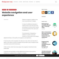 Website navigation and user experience