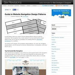 Guide to Website Navigation Design Patterns