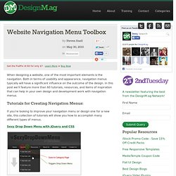 Website Navigation Menu Toolbox - Web Design Blog – DesignM.ag
