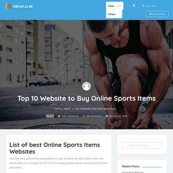 Top 10 Website to Buy Online Sports Items