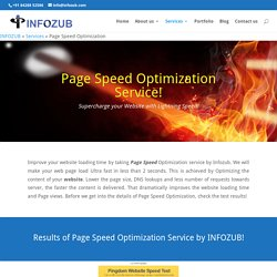 Website Page Speed Optimization Service