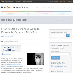 How to Make Sure Your Website Passes the Dreaded Blink Test