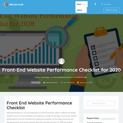 Front-End Website Performance Checklist for 2020 - The Local BZ