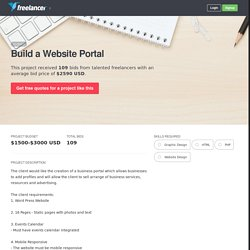 Build a Website Portal