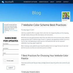 7 Website Color Scheme Best Practices