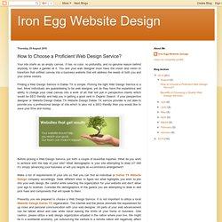 How to Choose a Proficient Web Design Service?