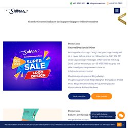 Logo Design, Website Design Promotions - Singapore
